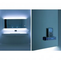 zrcadlo LED-RGB + iPOD MP3 / Antonio Lupi