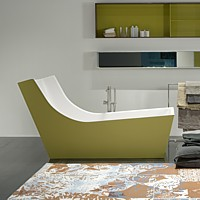 Antonio Lupi – CUNA – pohodlná vana s opěrkou zad / design Carlo Colombo